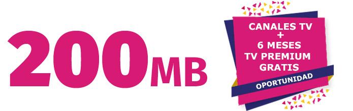 fibra 200 mb simétricos